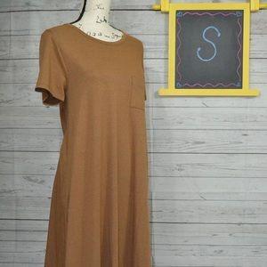 LuLaRoe Solid Tan/brown Carly